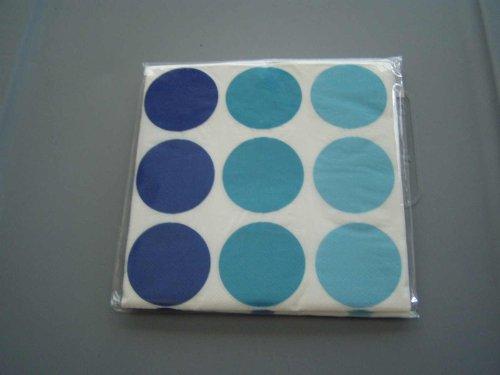 Servilletas de almuerzo con lunares azules (16 unidades)