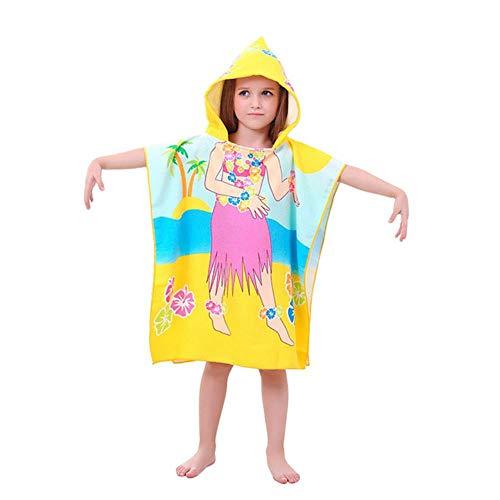 Strandbadhanddoek met capuchon voor peuters Haai Zacht zwembad Coverup Poncho Cape voor jongens Kinderen Kinderen 1-12 jaar oud, A
