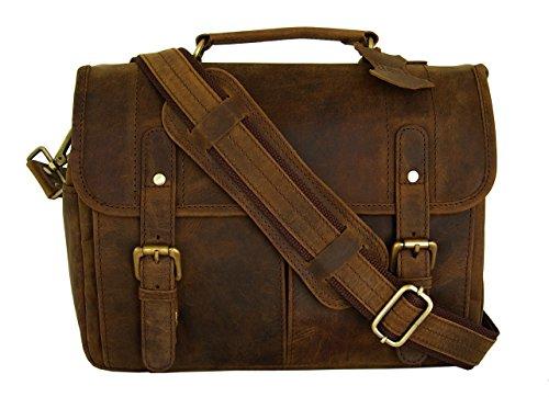 Leather Camera Messenger Bag for DSLR