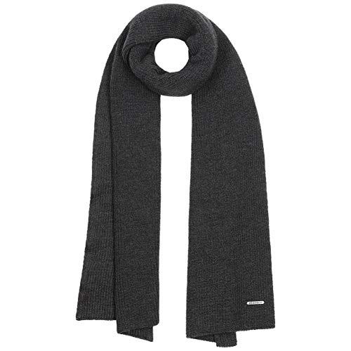 Stetson Caledonia Merino Sciarpa Donna/Uomo - Made in Italy lana invernale casual autunno/inverno - Taglia unica antracite