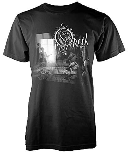 ZWSZD Opeth Damnation T-Shirt Short-Sleeve Unisex Tee Dark Grey L