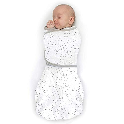 Amazing Baby Omni Swaddle Sack with Wrap amp Arms Up Sleeves amp Mitten Cuffs Sterling Confetti Small 03 Months