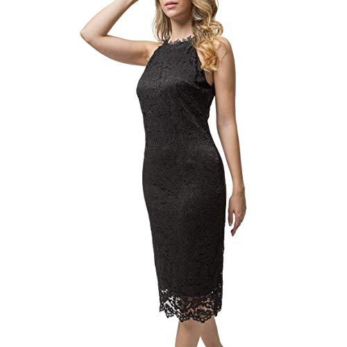 Mer's Style - Vestido de Fiesta Elegante con Encaje, Mujer