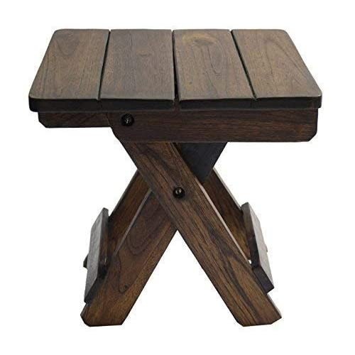 Admirable Magica Foldable Stool Brown Amazon In Home Kitchen Caraccident5 Cool Chair Designs And Ideas Caraccident5Info