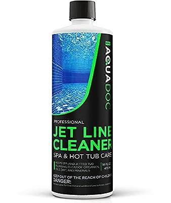 Spa Jet Cleaner for Hot Tub - Spa Jet Line Cleaner for Hot Tubs & Jetted Tub Cleaner to Keep Your Jets Clean - Fast Acting Spa Flush for Hot Tub, Spa Cleaner and Hot Tub Jet Line Cleaner | AquaDoc