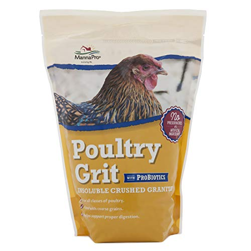 Manna Pro Poultry Grit with Probiotics | Insoluble Crushed Granite | 5 LB