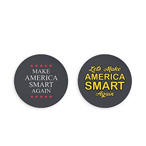 Bottle Openers/Fridge Magnets,Make America Smart Again Coke Bottle Wine Soda Openers Kitchen Magnet(2 Pcs)