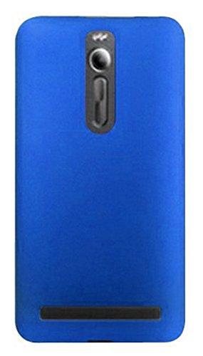 Beschermhoes voor Asus Zenfone 2 Deluxe ZE551ML/ZE550ML Z00ADB Z008DC Z00AD Z00ADA Z00ADC (frame met 360 graden toetsen) Soft Slim Gel Silicone Soft TPU bescherming tegen krassen, Blauw
