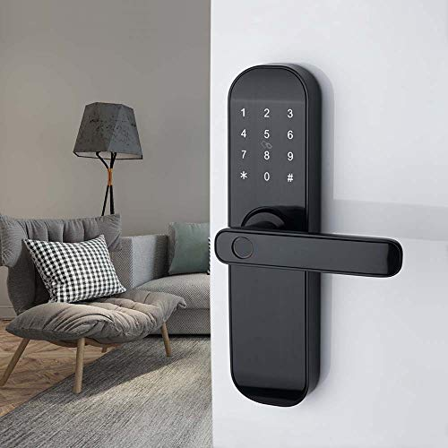 HAIFUAN M20 Bluetooth Digital Lock,Unlock with Fingerprints, Card, Code, App (Compatible with Alexa) (for Right Hand Doors Only)