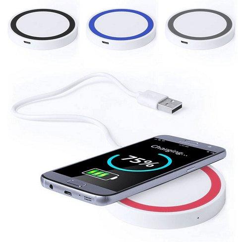 Lote de 10 Cargadores Inalámbricos Teléfonos Móviles - Cargadores Inalámbricos Baratos Wireless USB - Regalos, Detalles y Recuerdos Prácticos Originales para Hombres, Mujeres, Bodas, Bautizos