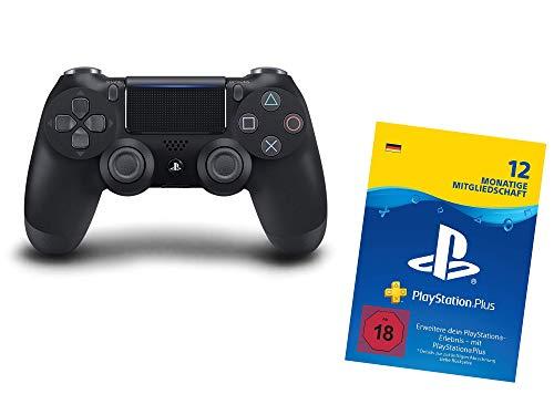 PlayStation 4 - Dualshock 4 (schwarz) + PlayStation Plus 12 Monate Bundle