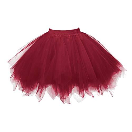 Goosun Mujeres Faldas Enaguas Cortas Tutu Ballet Tul Plisada Cancan 50s Retro...