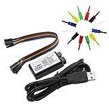 QiXin USB Logic Analyzer Device, 12PCS 6 Colors Test Hook Clip Grabber EMI Ferrite Ring USB Cable...