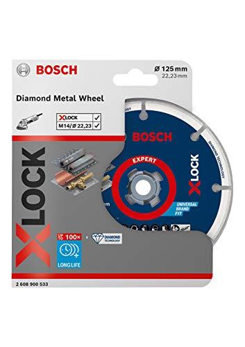 Bosch Professional Diamanttrennscheibe Diamond Metal Wheel (für Stahl, Edelstahl, Gusseisen, X-Lock, Ø 125 mm, Zubehör Winkelschleifer)