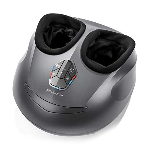 MARNUR Foot Massager Machine Shiatsu Foot Massage Electric Kneading with Heat Rolling and Air Compression for Home Office (Heat/Air Compression/Shiatsu Use Separately )