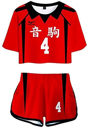 Nekoma - Disfraz de escuela secundaria, diseño de camiseta japonés, anime, voleibol, deportes, chándal Kuroo Tetsurou Kenma Kozume