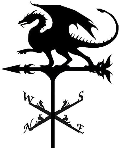 XWZ Veleta, Acero Inoxidable Dragón Indicador De Dirección del Viento Durable Estaca De Jardín De Granja Veleta Veleta De Viento Indicador De Dirección De Viento