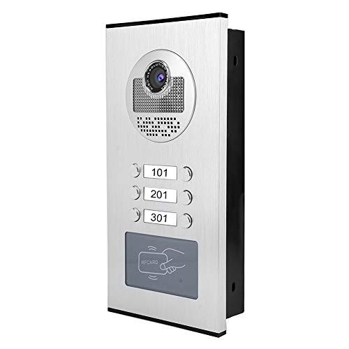 Videodeurbel, 7 in 2 monitoren RFID-deurbeltelefoon met videotoegang thuis en IR-CUT-camera (EU)