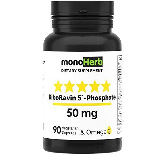 Riboflavin 5'-Phosphate 50 mg - 90 Vegetarian Capsules - Bioactive Vitamin B2