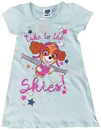 PAW Patrol MädchenKleid Sommerkleid oder Nachthemd Skye + Everest rosa + türkis Gr.98 104 110 116 128 (türkis, 116)