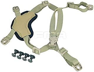 H World Shopping Ordinary Helmet General Suspension Lanyard with 4 Points Chin Strap with Bolts and Screws for Fast ACH MICH IBH Helmet