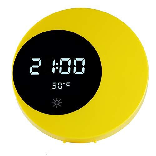 Norte De Europa Reloj De Pared Cuarto Creatividad Reloj Led Moda Mudo Luz del Reloj Recargar Personalidad ElectróNico Regalo Despertador Interruptor Tactil