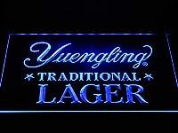 Yuengling Traditional Lager LED看板 ネオンサイン ライト 電飾 広告用標識 W40cm x H30cm ブルー
