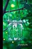 jar fireflies notes: small lined Fireflies - Lightning Bugs Notebook / Travel Journal to write in (6'' x 9'')