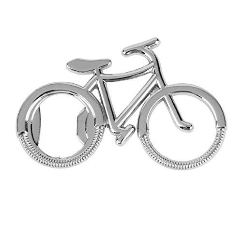 StrongAn Abrebotellas de Cerveza de Metal para Bicicleta Llaveros Lindos para Amantes de la Bicicleta Regalo de Fiesta de Aniversario de Bodas Llavero de Bicicleta - Plata