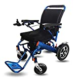 YJR Silla de ruedas para discapacitados Coche Anciano Silla de ruedas eléctrica Aleación de aluminio Portátil Ligero Batería de litio Plegable Silla de ruedas inteligente