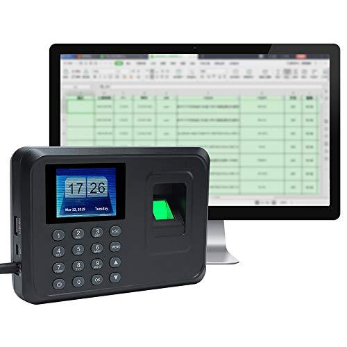 Aibecy Intelligente impronta digitale biometrica Password Assistente Macchina Registratore check-in Schermo LCD da 2,4 pollici Macchina di rilevazione presenze impronte digitali rilevatore presenze