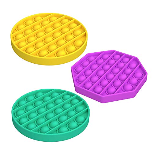 Warju Cheap Push Pop Bubble Fidget Toys 3 Pack Tactile Logic Game Great for Kids and Adults