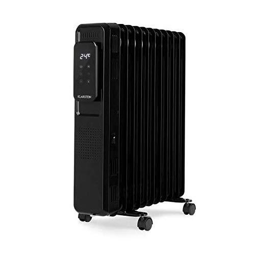 Klarstein Thermaxx Elevate Smart - Ölradiator Elektroheizung, 2720 W Leistung, bis 54 m², Temperaturbereich: 7-35 °C, 24-h-Timer für On-/Off-Funktion, Digital Bildschirm, Touch-Panel, schwarz