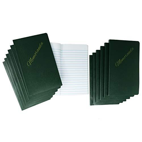 """(12 Pack) Tacticai Green Military Memorandum Book (3.25"""" x 5.5"""" - 144 Sheets) for Note and Memo..."""