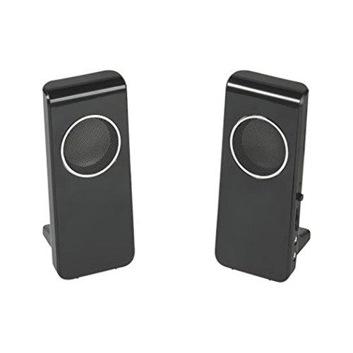 Vivanco IT-CSP 2.0 Kompaktes Stereo-Lautsprecherset für Computer, USB und Klinkenstecker 3,5 mm, 4 W, Magnetische Abschirmung
