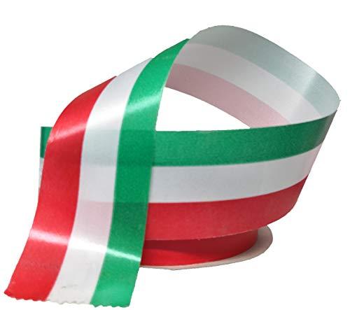 Generico Nastrino Tricolore-50 Mm X 100 M, Italia 50, Bobina
