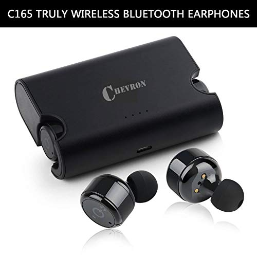 Chevron C165 Truly Wireless Bluetooth Earphones with Mic (Black)