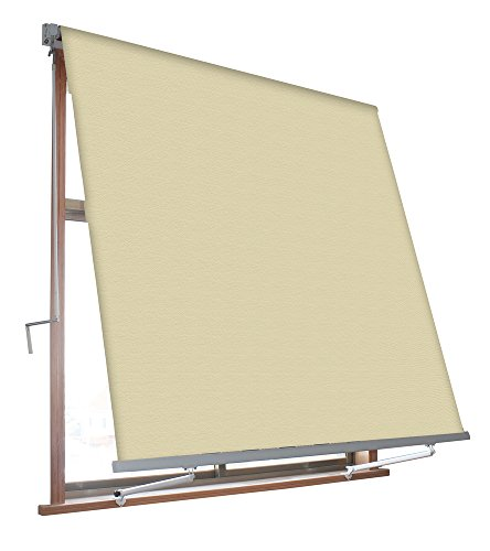 VERDELOOK Tenda da Sole Milos a Caduta avvolgibile con Braccetti 80 cm per ancoraggio, larghezza 3 m e altezza 2,45 m, beige