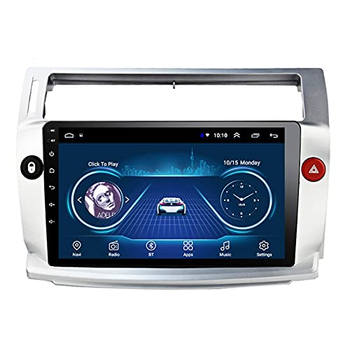 BIEKANNM Android 10 Car Stereo Auto Player Radio GPS Navigation Audio De 9 Pulgadas - Aplicable para Citroen C4 Quatre 2004-2009, Digital Media FM Head Unit Multimedia,8core-WiFi: 2+32G