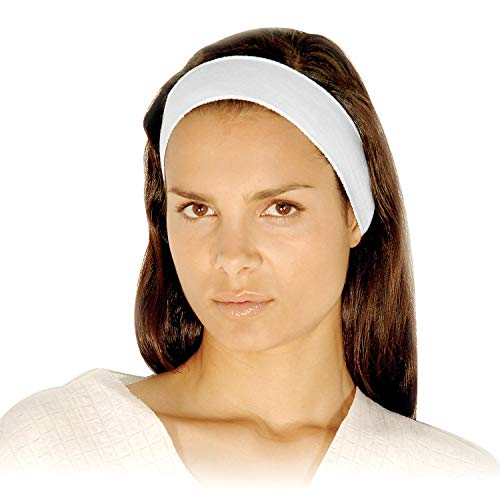 Disposable Headbands without Closure - APPEARUS Stretch Cotton Cloth Spa Facial Headband (48 Count)