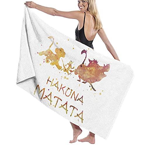 DJNGN El Rey León Hakuna Matata Toalla Grande y Suave Toalla de baño para el hogar Toalla de Playa...