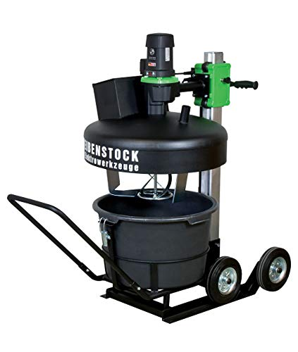 CS Unitec Electric Cement Mixer Portable, Concrete Mixing Station -Heavy Duty Twinmix 1800 T-Mixing concrete, cement, grout, paint, epoxy, mortar, thin set, mud, resin, stucco, plaster-MADE IN GERMANY
