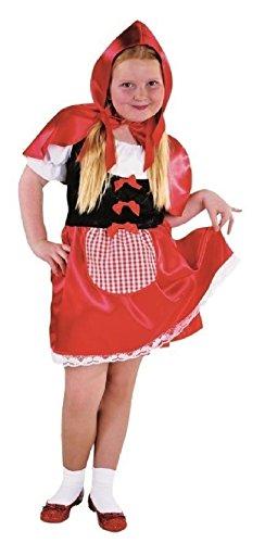 narrenkiste M213010-104 - Disfraz infantil de Caperucita Roja y Blanca, talla 104