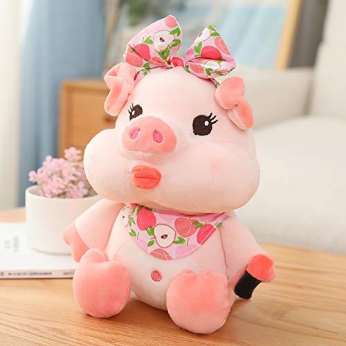 QWEDFG Encantador Maquillaje de Cerdo, Juguetes de Peluche, muñecos de Animales Bonitos, Cerdito para bebés, Almohada apaciguadora para niñas, Regalos de cumpleaños y Navidad