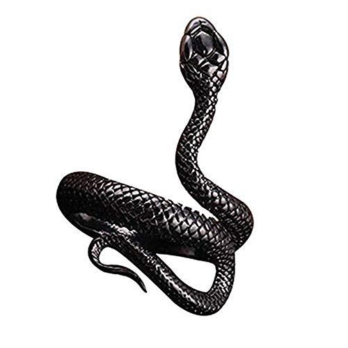 1 anillo de serpiente vintage creativo animal anillo lindo serpiente abierto anillo ajustable metal moda punk gótico joyería para mujeres y hombres regalo