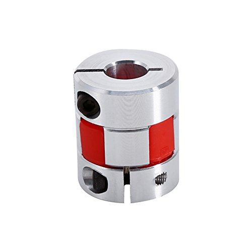 10mm x 8mm CNC Flexible Plum Coupling Shaft Coupler Stepper Motor Encoder Connector Coupler D20 L30 Jaw Clamp Aluminum Alloy