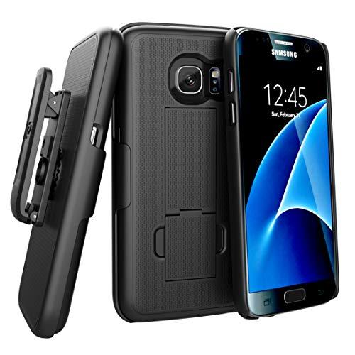Encased (Ultra-Slim) Belt Clip Holster Case for Samsung Galaxy S7 - Smooth Black