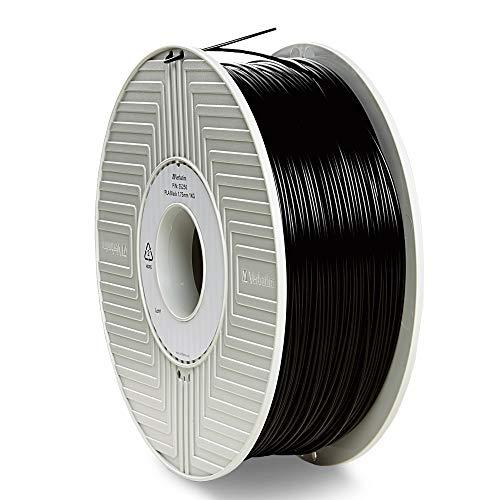 Verbatim PLA Filament 1.75 mm - 1 kg, 3D Print Material, Hochleistungs-Polylactid, schwarz