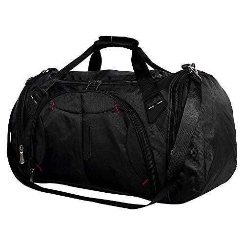 WYJW Sporttas met schoenenvak, waterdichte tas, 45 liter, onderste design, slijtvast, handtas of schoudertas, voor mannen en vrouwen op reis