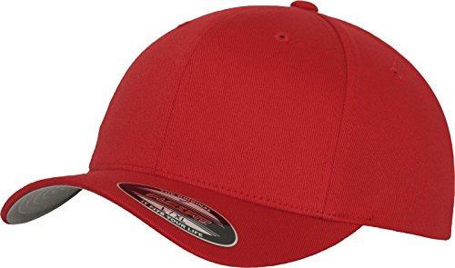 Flexfit Unisex-Erwachsene Wooly Combed 6277 Mütze, Rot (red), XS/S